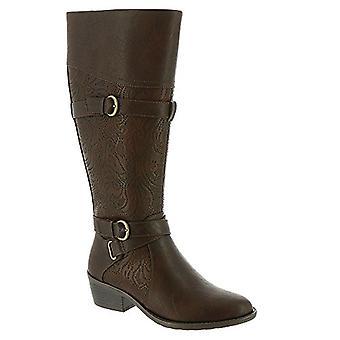 Easy Street Womens Kelsa Läder Mandel Tå Knä High Fashion Boots