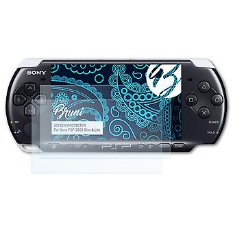 Bruni 2x Screen Protector compatible with Sony PSP-2000 Slim & Lite Protective Film