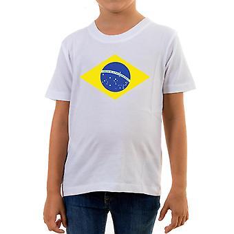 Reality glitch brazil international flag kids t-shirt