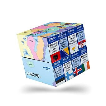 ZooBooKoo European Nations Map, Flags, Facts Geographical Cubebook Learn