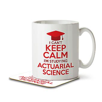I Can't Keep Calm I'm Studying Actuarial Science - Mug and Coaster
