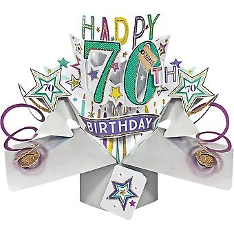 Second Nature Pop Up Stars 3d 70th Happy Birthday Card Pop153