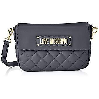 Love Moschino Bag Quilted Nappa Pu Women's Strap (Grey) 16x23x6 cm (W x H x L)