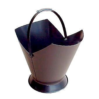 FireUp Tapered Round Steel Black Wood Bucket (38cm H)