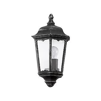 Eglo Navedo - 1 Light Outdoor Wall Lantern Zwart, Zilver-Patina IP44 - EG93459