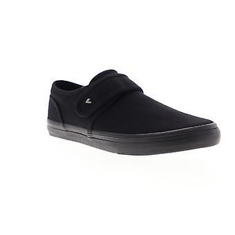 Lugz Voyage II  Mens Black Canvas Strap Sneakers Shoes