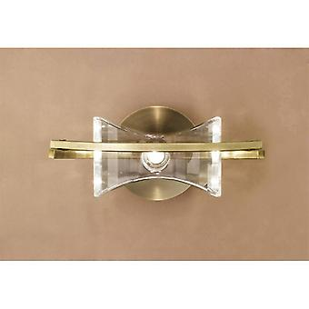 Kromo Wall Lamp Switched 1 Light G9, Antique Brass