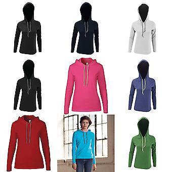 Aambeeld Womens/dames mode gewoon lange mouw T-Shirt Hooded