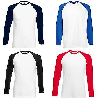 Fruit de la Loom Mens Long Sleeve T-Shirt de Baseball