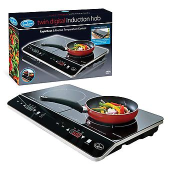 Quest Double Digital Induction Hob 2800 Watt Black