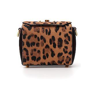 Alexander Mcqueen 554127cr3cm2790 Women's Leopard Leather Handbag