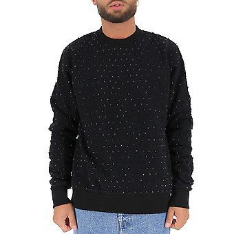 Amen Mew19210mw19005089 Män's Svart bomull sweatshirt