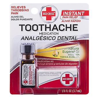Red cross toothache complete medication kit, 1 kit