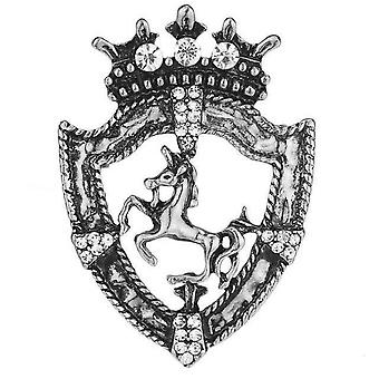 Silver horse design metal chest lapel pin brooch