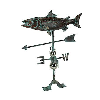 Salmon Weathervane with Roof Mount