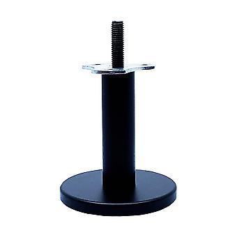Rund svart design möbler ben 10 cm (M10)