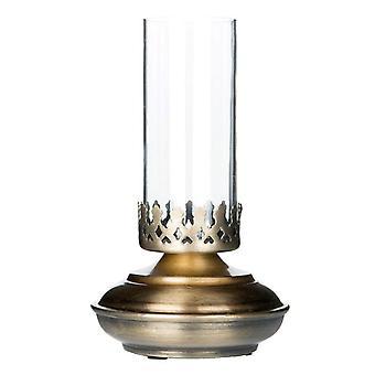 Lantern Lamp for tealight antique brass 18 cm