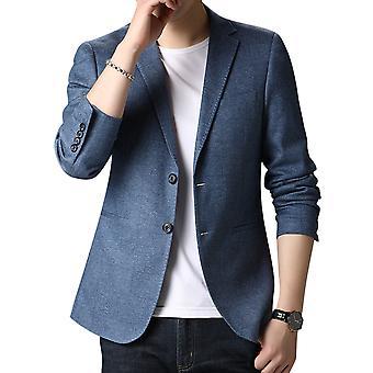 Allthemen Men's jacheta costum imprimate 2 nasturi notched Rever Blazer Slim Fit