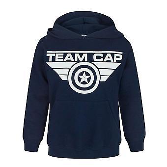 Captain America Bürgerkrieg Team Cap Kid's Unisex Navy Hoodie