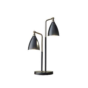 "13-24"" X 8"" X 24.75-32.5"" Black Metal Table Lamp"