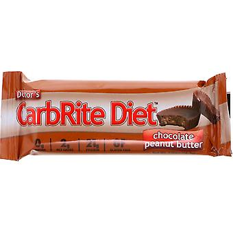 Universal Nutrition Doctor's CarbRite Diet Bars -12 Bars-Chocolate Pindakaas