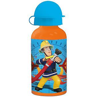 FEUERWEHRMANN SAM Children's aluminum orange blue water bottle 400 ml