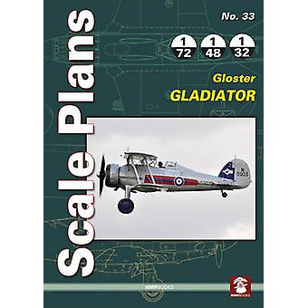 Scale Plans No. 33 Gloster Gladiat by Illustrated by Dariusz Karnas