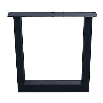 Pata de mesa U negra 72 cm (tubo 10 x 10)