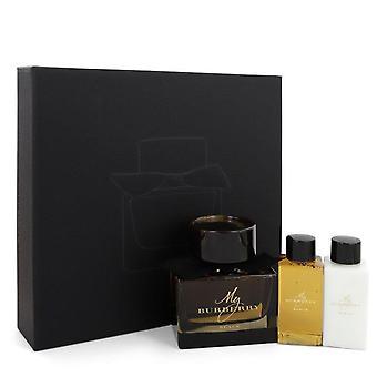 My Burberry Black Gift Set By Burberry 3 oz Eau De Parfum Spray + 2.5 oz Body Lotion + 2.5 oz Shower Gel