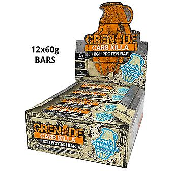 12 x 60g High Protein Bar Schokolade Chip Snack Trockenfutter