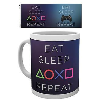 Playstation Syö Sleep Repeat Muki