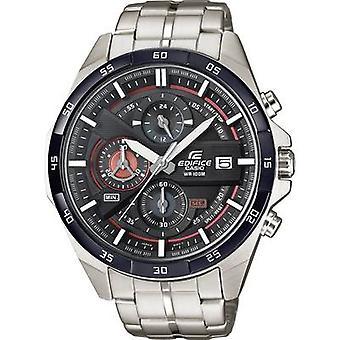 Kronograf Armbåndsur EFR-556DB-1AVUEF (L x B x H) 53,5 x 48,7 x 12,6 mm Sølv/hvit Kapslingsmateriale = Rustfritt stål Materiale (klokkestropp)=Rustfritt