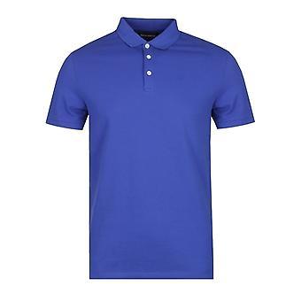 Emporio Armani Pique Blue Polo Shirt