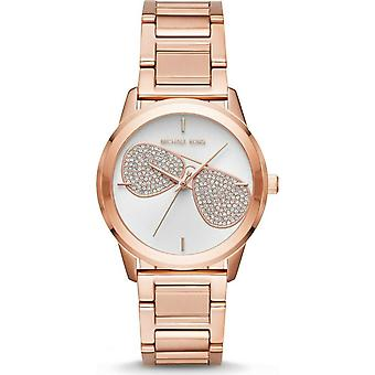 Michael Kors MK3673 Hartman Silver Dial Rose Gold Tone Ladies Watch