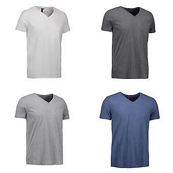 ID Mens V-Neck Short Sleeved T-Shirt