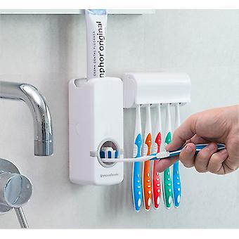 Dozownik pasty do zębów z uchwytem na szczoteczkę do zębów