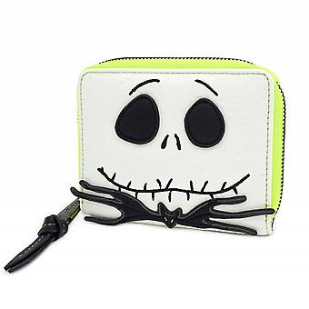 Loungefly Nightmare Before Christmas Jack Skellington Faux Leather Bifold Zip Around Purse