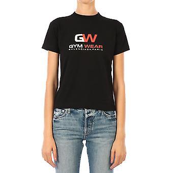 Balenciaga 612964tivd51000 Women's Black Cotton T-shirt