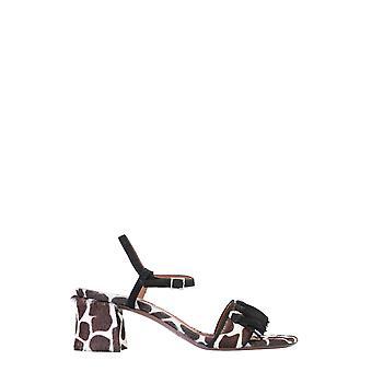 L'autre Koos Osl17260cp2978g446 Dames's Wit/bruin leren sandalen
