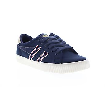 Gola Tennis Mark Cox Selvedge  Mens Blue Canvas Lifestyle Sneakers Shoes
