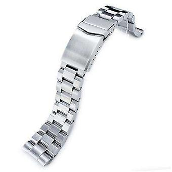 Strapcode watch bracelet 22mm hexad oyster 316l stainless steel watch band for seiko new turtles srp777  padi srpa21, v-clasp button wcp24987