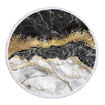 Fehér fekete arany márvány strandtörölköző