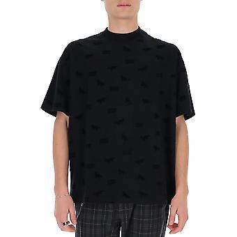 Maison Kitsuné Du00113kj0016bk Men's Zwart Katoen T-shirt