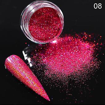 Powder Nails Laser Silver Pink - Glitter Chrome Nail Powder