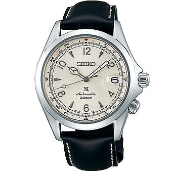 Seiko Uhren Spb119j1 Prospex Alpinist Creme weiß & schwarz Leder Automatische Herren's Uhr