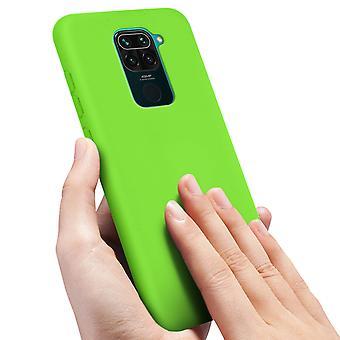 Back cover Xiaomi Redmi Note 9 Semi-Rigid Silicone Soft-Touch Finish Green
