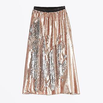 Delicate Love  - Sequin Skirt - Nude/Pink