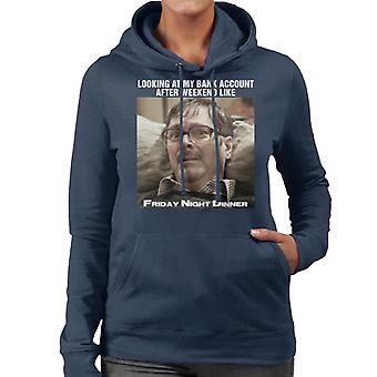 Friday Night Dinner Sad Jim Meme Women's Hooded Sweatshirt
