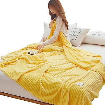Fluffy and soft sofa bed blankets, warm and comfortable bedspreads, blankets