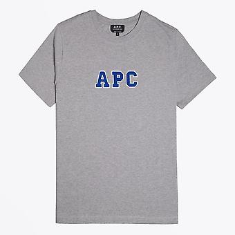 A.P.C.  - Gael - Collage Logo T-Shirt - Heather Grey